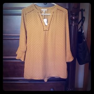Mustard Polka Dot Top
